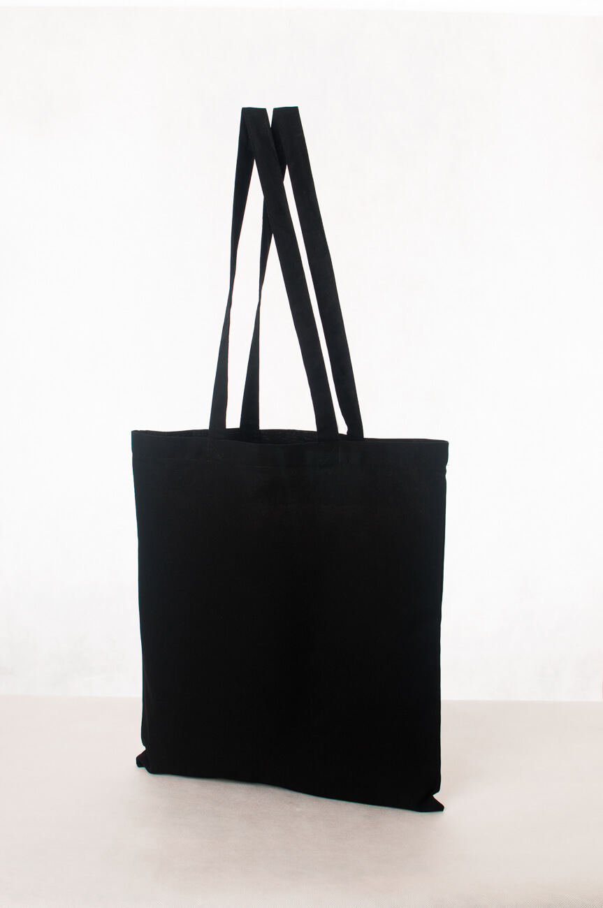 Torba ekologiczna bawełniana czarna