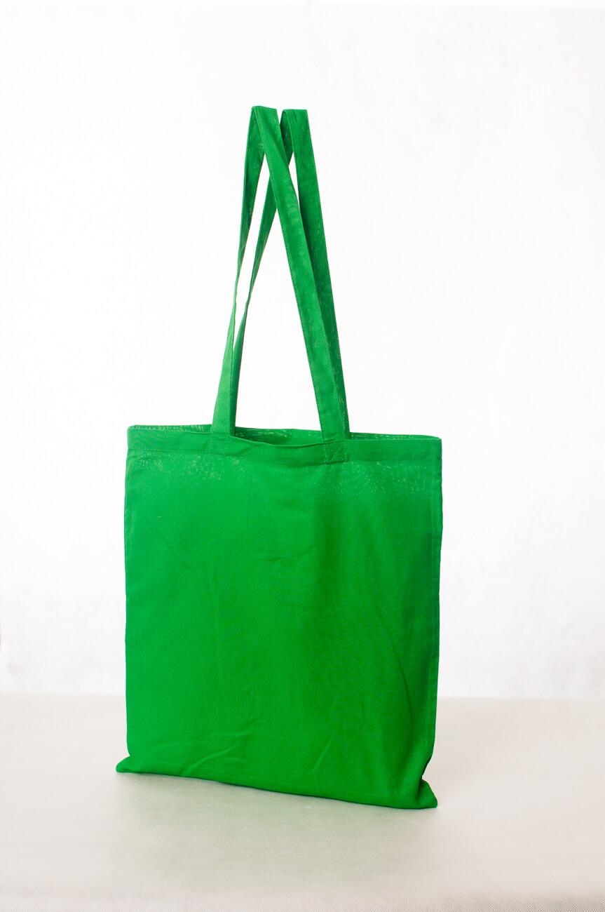 Torba ekologiczna bawełniana zielona