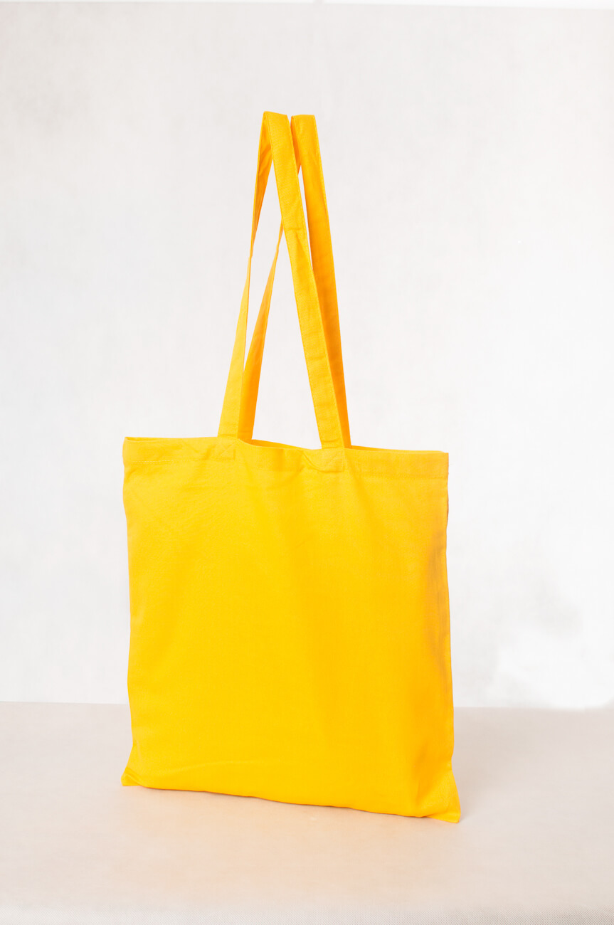 Torba ekologiczna bawełniana żółta