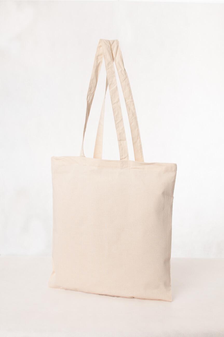 Torba ekologiczna bawełniana biała